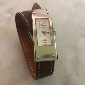 HERMES Vintage Kelly 2 Double Tour Leather Watch